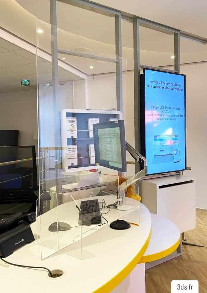 Hygiaphone protection plexiglas transparent COVID