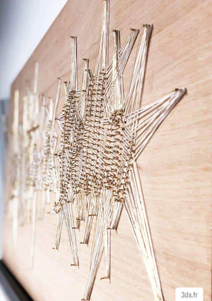 String art bois et ficelle