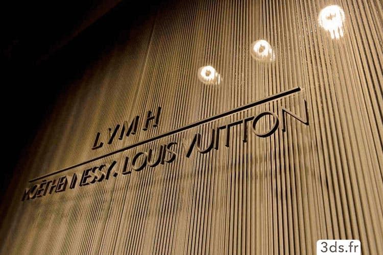 signalétique lettrage laiton entreprise luxe