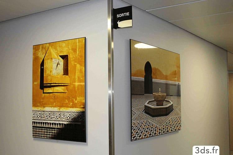 Cadre imprimé sur mesure décoration bureau