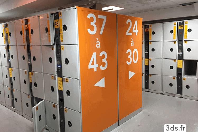 Signalétique intérieur casier entreprise