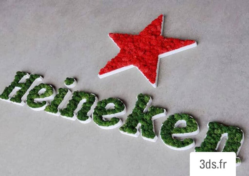 Logo végétal sur mesure lichen sur mesure
