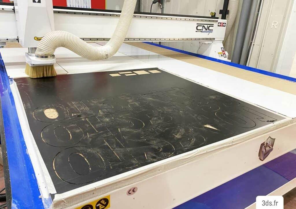 Machine découpe méca-numérique atelier 3DS Groupe