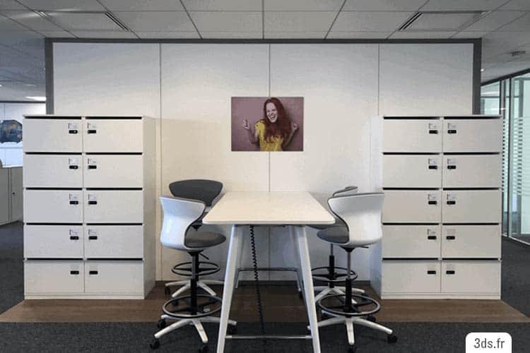 tableau dibond imprimé sur mesure décoration entreprise