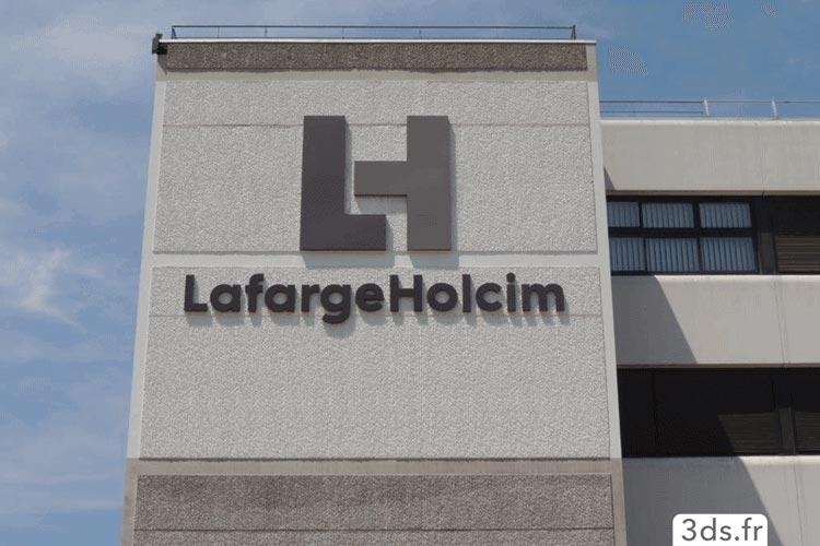 Enseigne extérieure logo relief bâtiment