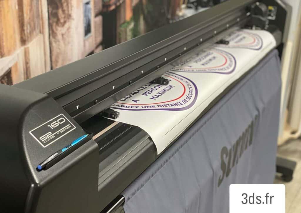 Machine plotter découpe adhésif atelier 3DS Groupe