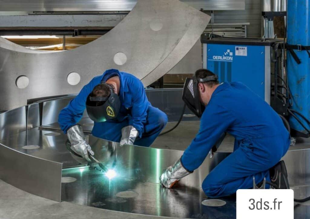 Soudage metal enseigne atelier 3DS Groupe