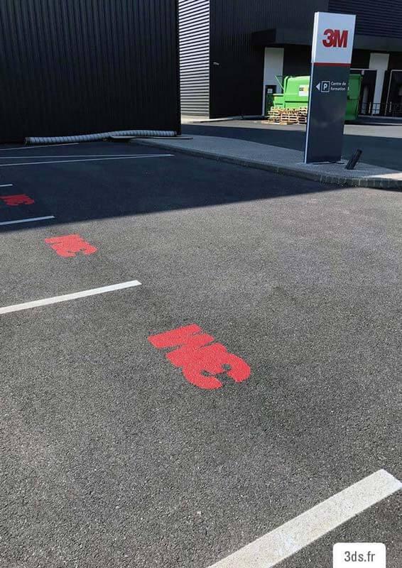 Marquage au sol - Signalétique Parking 3M