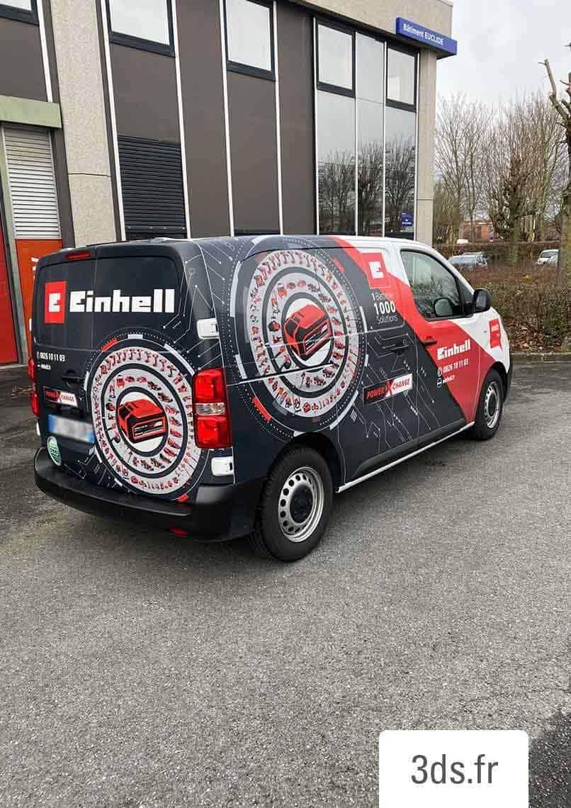 Flocage véhicule utilitaire adhésif imprimé total covering