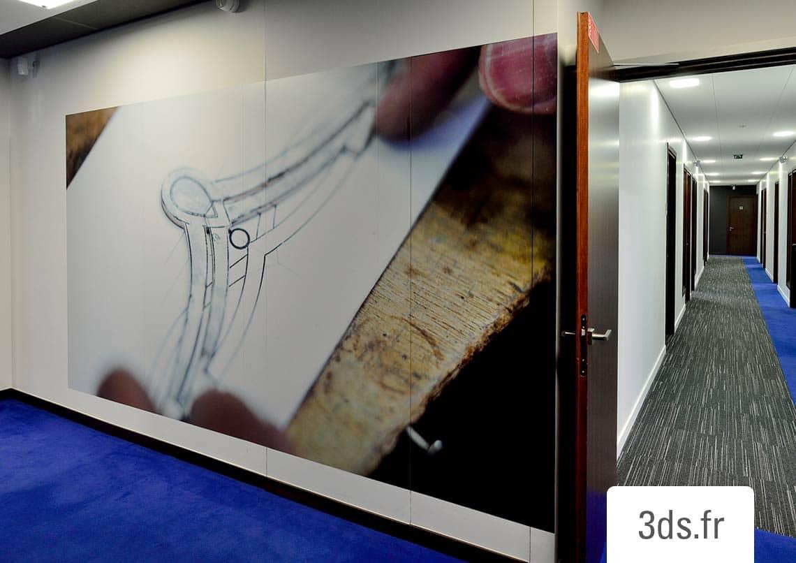 Décoration adhésive immersive bureaux professionnelles