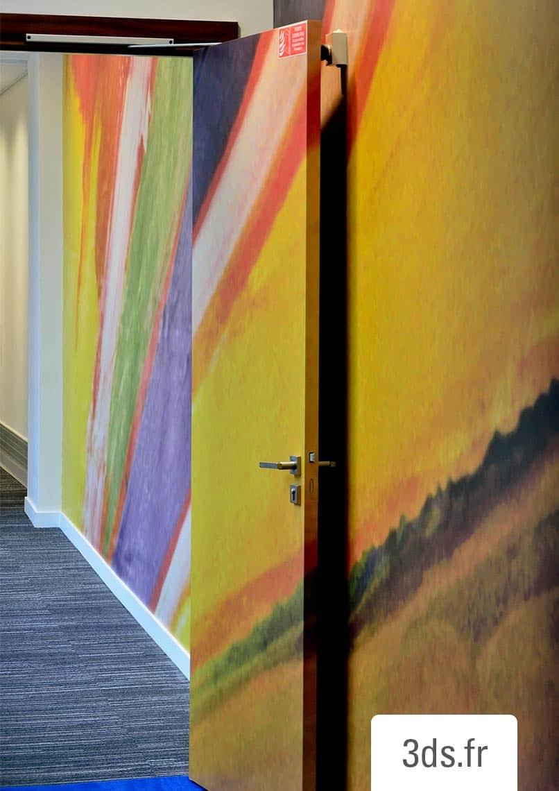 Décoration murale intérieur bicolore entreprise luxe