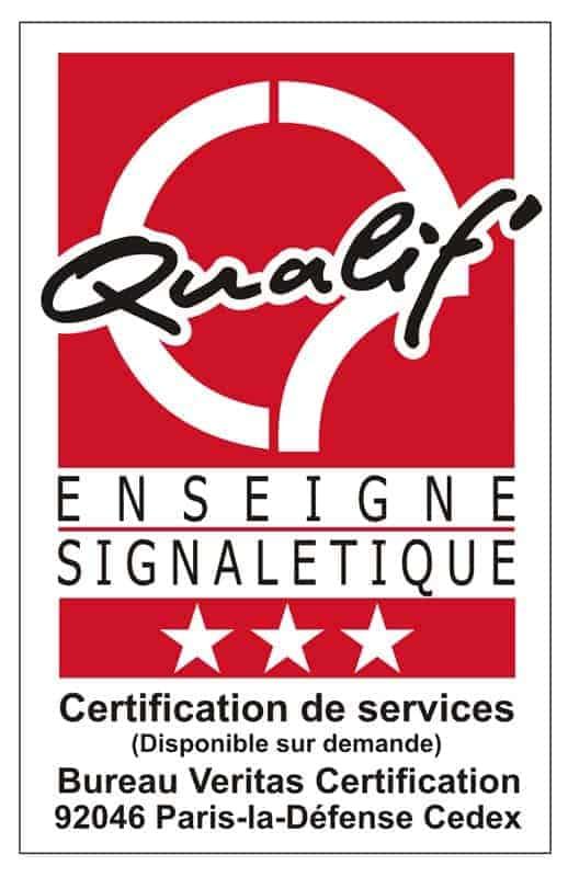 Certification Qualif' Enseigne Signalétique 3 étoiles