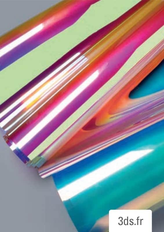 Echantillon film dichroïque 3M sur mesure