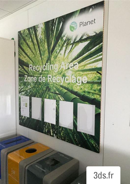 Signalétique Reboard écologique pour entreprise