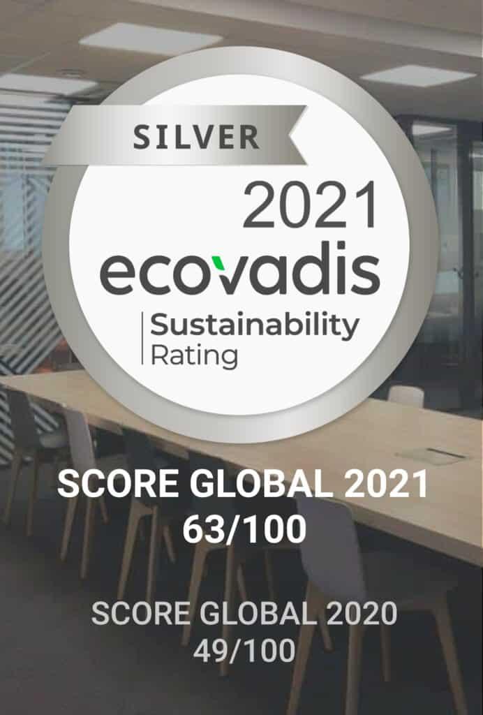 score global médaille argent ecovadis 3ds groupe