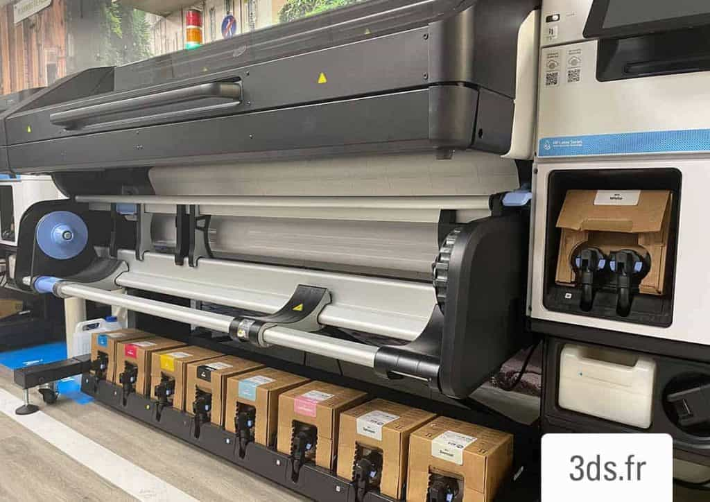 Imprimante numérique latex HP impression blanc