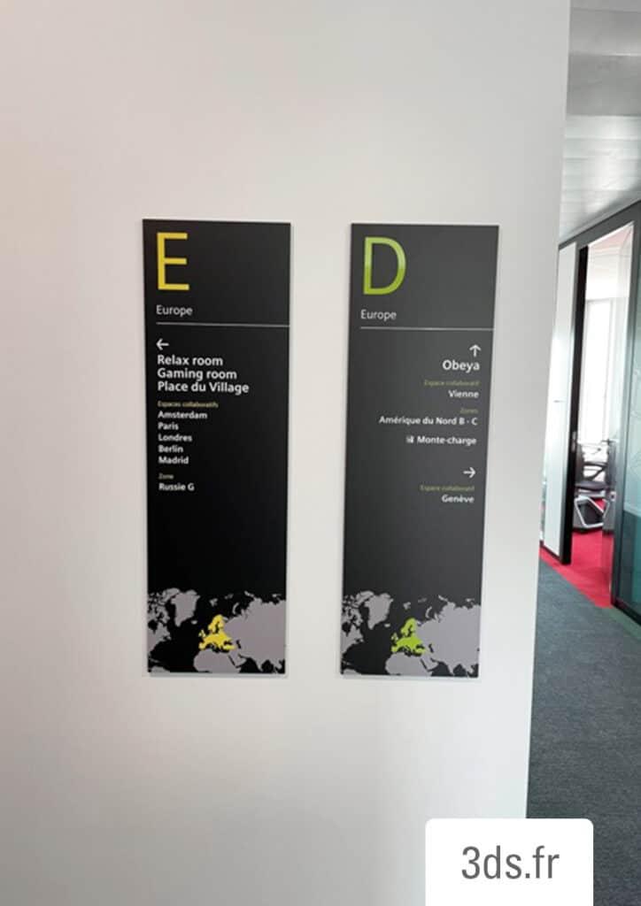 signalétique panneau directionnelle bureaux professionnels entreprise