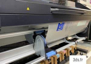 Impression numérique latex blanc grand format
