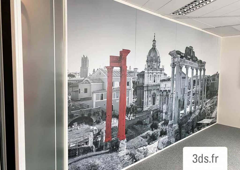 Impression sur film adhesif IJ40 decor mural