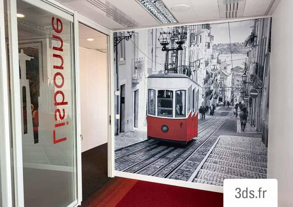 Visuel adhésif murale grand format corporate
