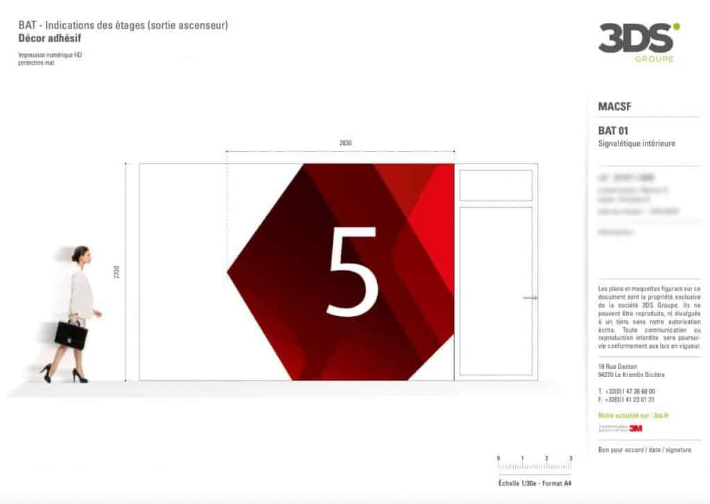 Conception Graphique Réalisation Signalétique Étage Client MACSF