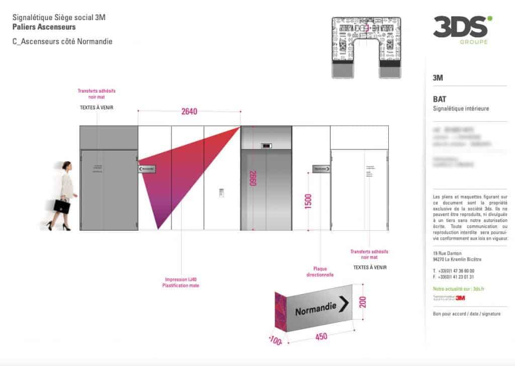 Conception Graphique Signalétique Directionnelle Client Entreprise 3M