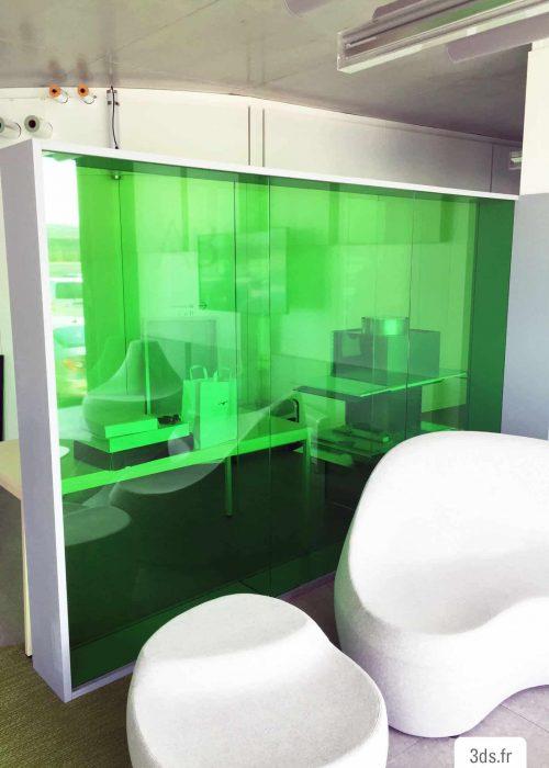 vitrophanie colorée impression numérique bureau