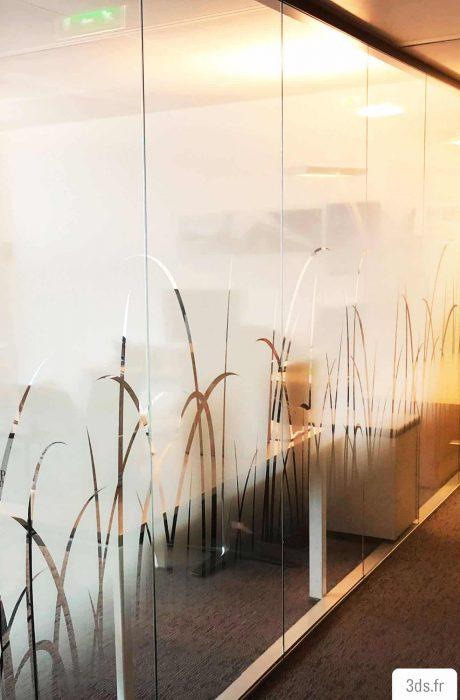 Vitrophanie végétale impression numérique