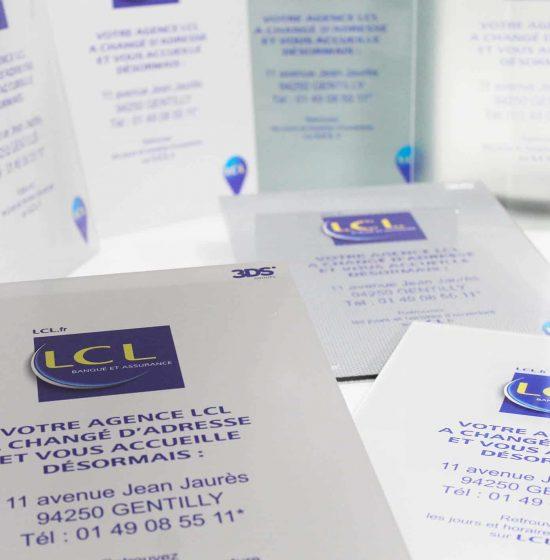 Prototype adhésif regroupement agence LCL